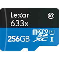 Lexar High-Performance microSDXC 633x 256GB UHS-I Card w/SD Adapter - LSDMI256BBNL633A