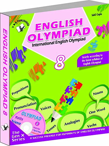 International English Olympiad - Class 8  with CD: Essential Principles with Examples; Mcqs and Solutions; Model Test Papers