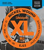 D'Addario EJ22 XL Nickel Wound Jazz Medium  (.013-.056) Wound 3rd Electric Guitar Strings