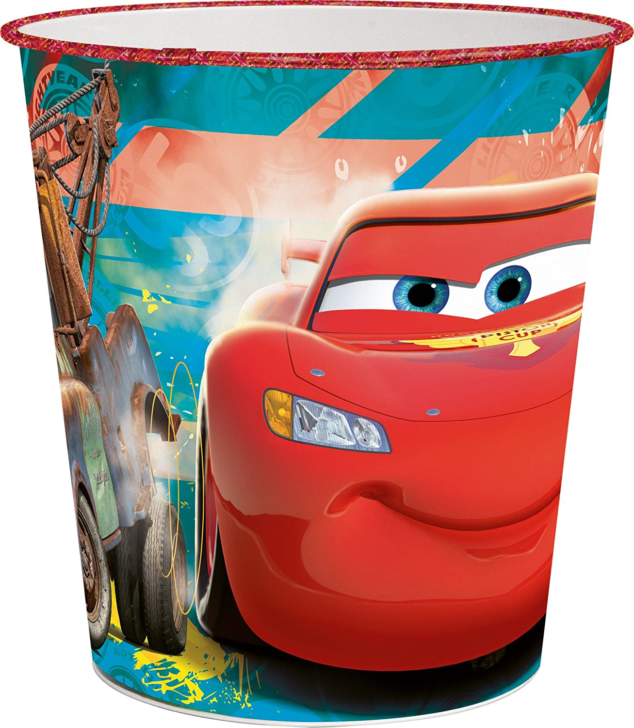 21 x 21 x 23 cm Joy Toy Cars Garbage Can Out of Plastic