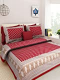 Kismat Collection Double Bedsheet 140 TC 100% Pure Cotton with 2 Pillow Cover Buy 1 GET 2 Free (Jaipuri & Rajasthani Traditional King Size Bed Sheet)