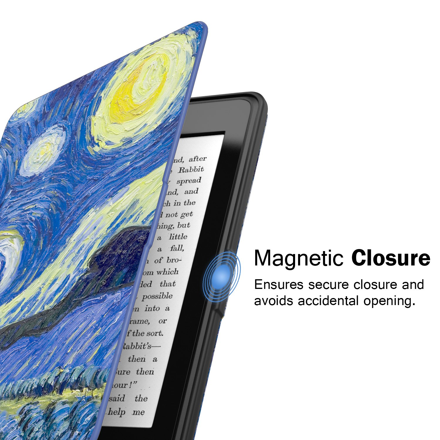 MoKo Case for Kindle Paperwhite, Premium Thinnest and Lightest PU Leather Cover with Auto Wake/Sleep for Amazon All-New Kindle Paperwhite (Fits 2012, 2013, 2015 and 2016 Versions), Starry Night by MoKo (Image #8)