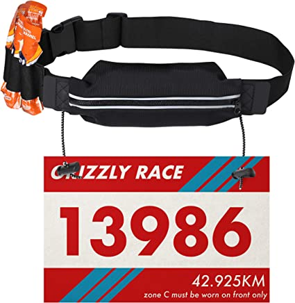 Sports Running Race Number Belt Triathlon Reflective Jogging Kids Adult Belts