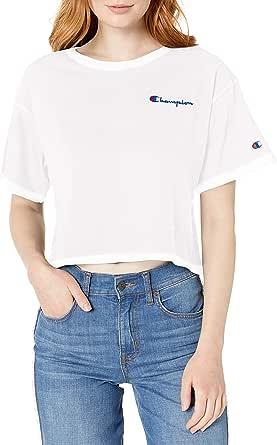 Champion Life Womens Crop Tee Short Sleeve T-Shirt - Multi