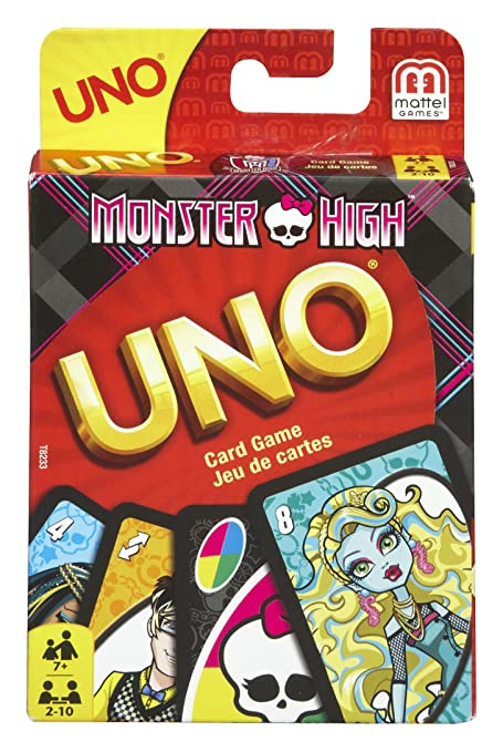 Mattel Games Monster High Uno Card Game