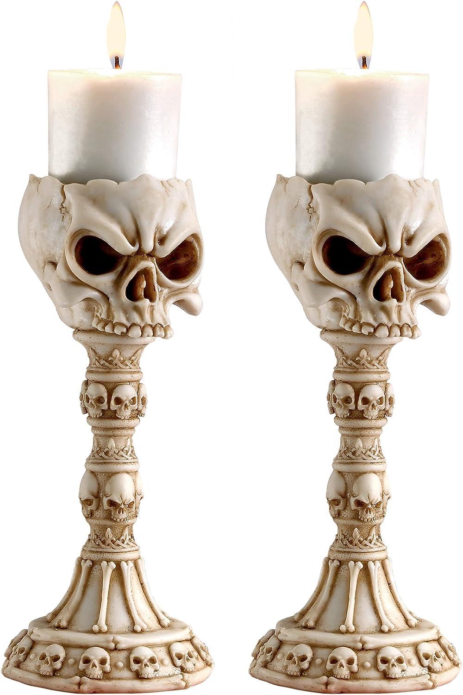 Skull Aluminum Candlestick Holder For 1-34 12 Candlesticks