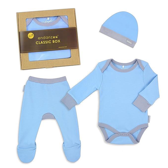 Endanzoo 100 Certified Organic Newborn Clothes Classic Gift Box