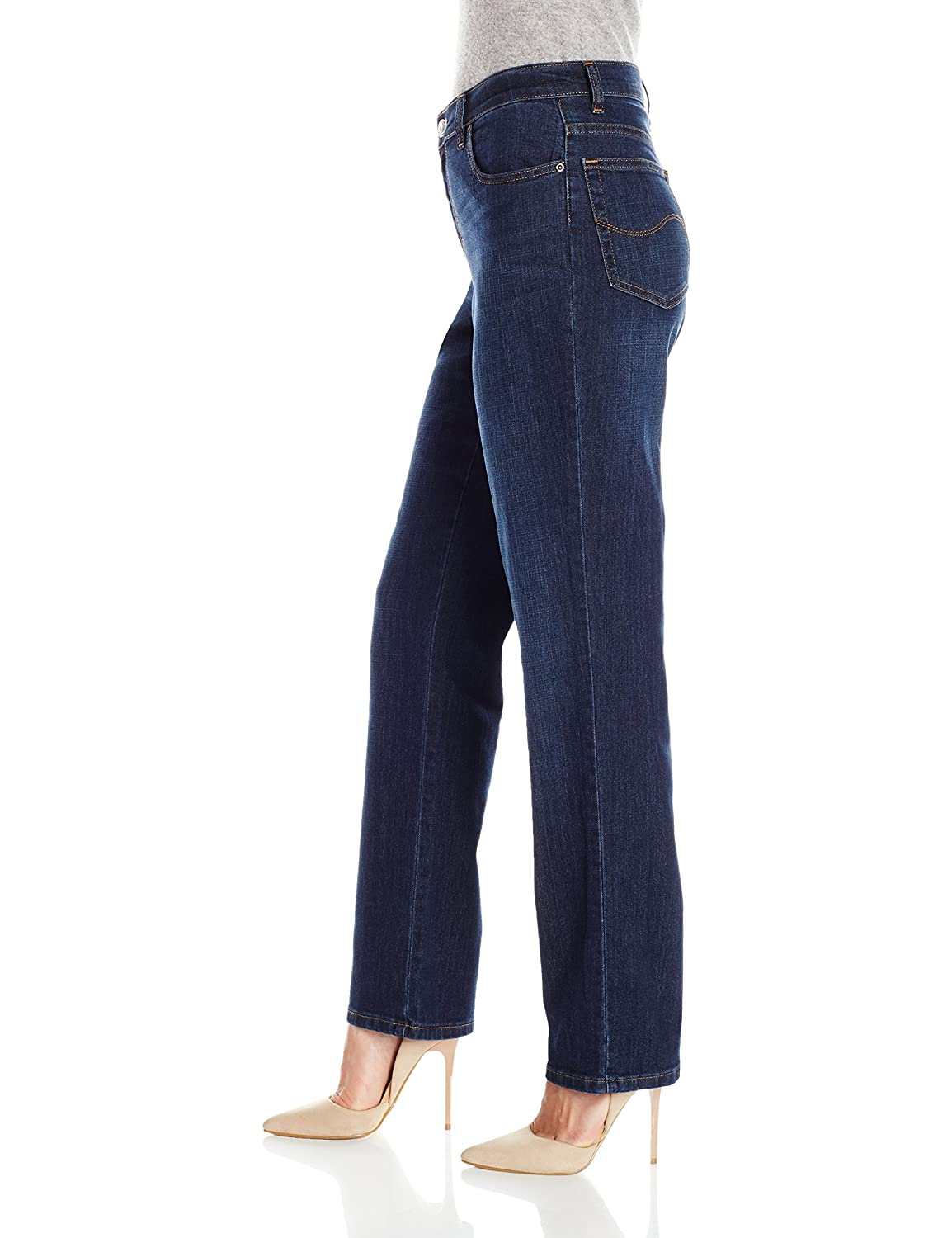 LEE Womens Relaxed Fit Straight Leg Jean, Verona, 16 Long ...
