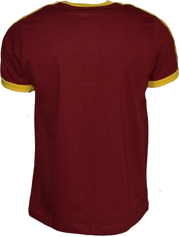 P Venezuela Equipo de fútbol Camiseta para Hombre 100% algodón Jersey de fútbol Bandera de Venezuela, Maroon - Yellow: Amazon.es: Deportes y aire libre