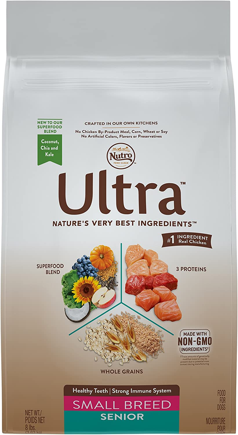 Nutro Ultra Small Breed Senior Dry Dog Food 1 8 Pounds Supports Heathy Teeth And A Strong Immune System Rich In Nutrients And Full Of Flavor Discontinued By Manufacturer