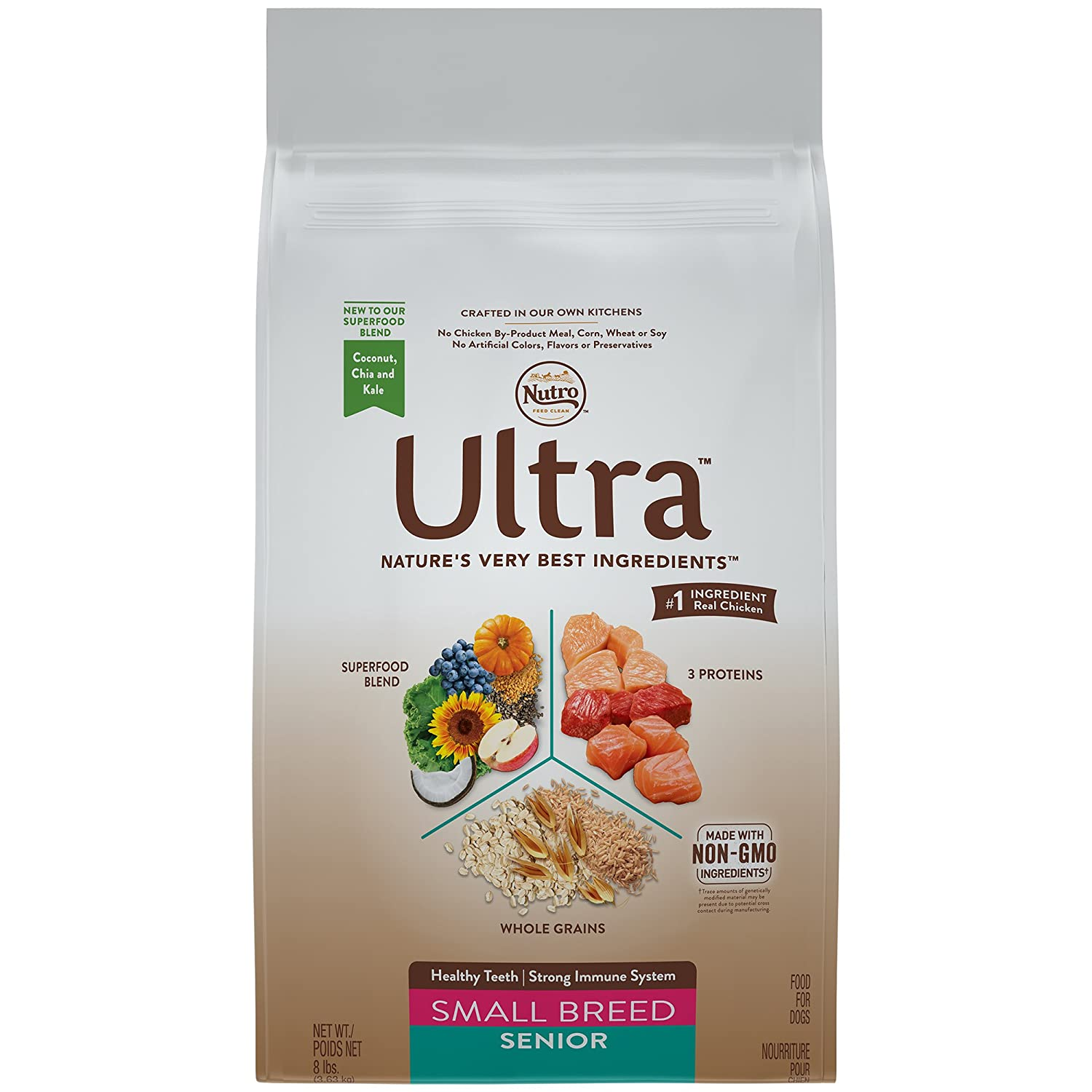Nutro Ultra Dog Food >> Nutro Ultra Small Breed Senior Dry Dog Food 1 8 Pounds Supports Heathy Teeth And A Strong Immune System Rich In Nutrients And Full Of Flavor