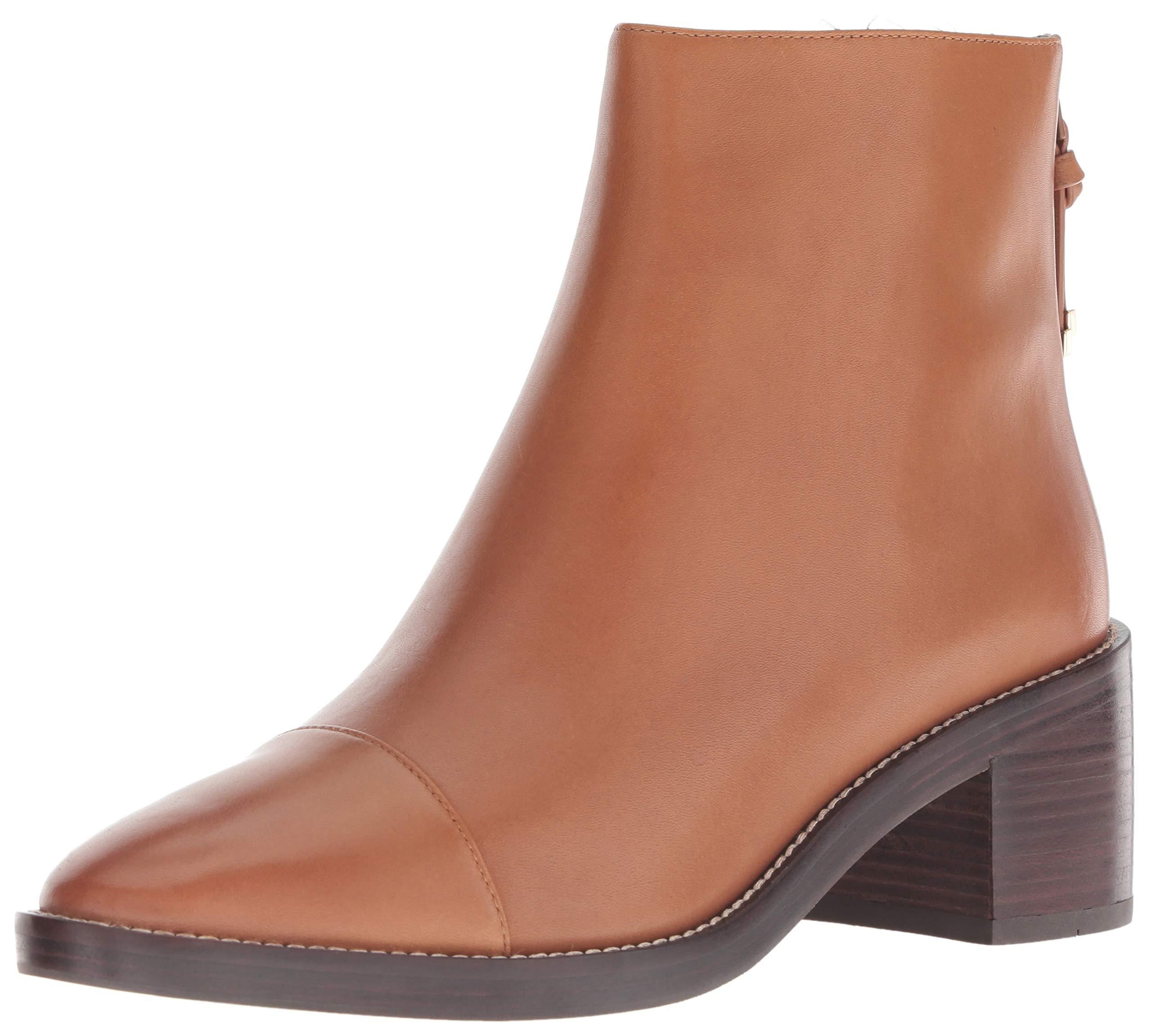 Cole Haan Women's Winne Grand Bootie Ankle Boot, British TAN Waterproof Leather, 9.5 B US by Cole Haan