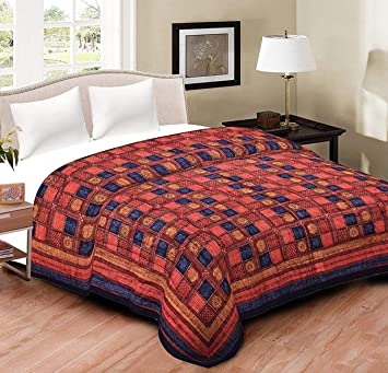 1c4d3caa72 SD Enterprises Traditional Light Weight Pure Cotton Single Bed Soft Jaipuri  AC Quilt/Razai with