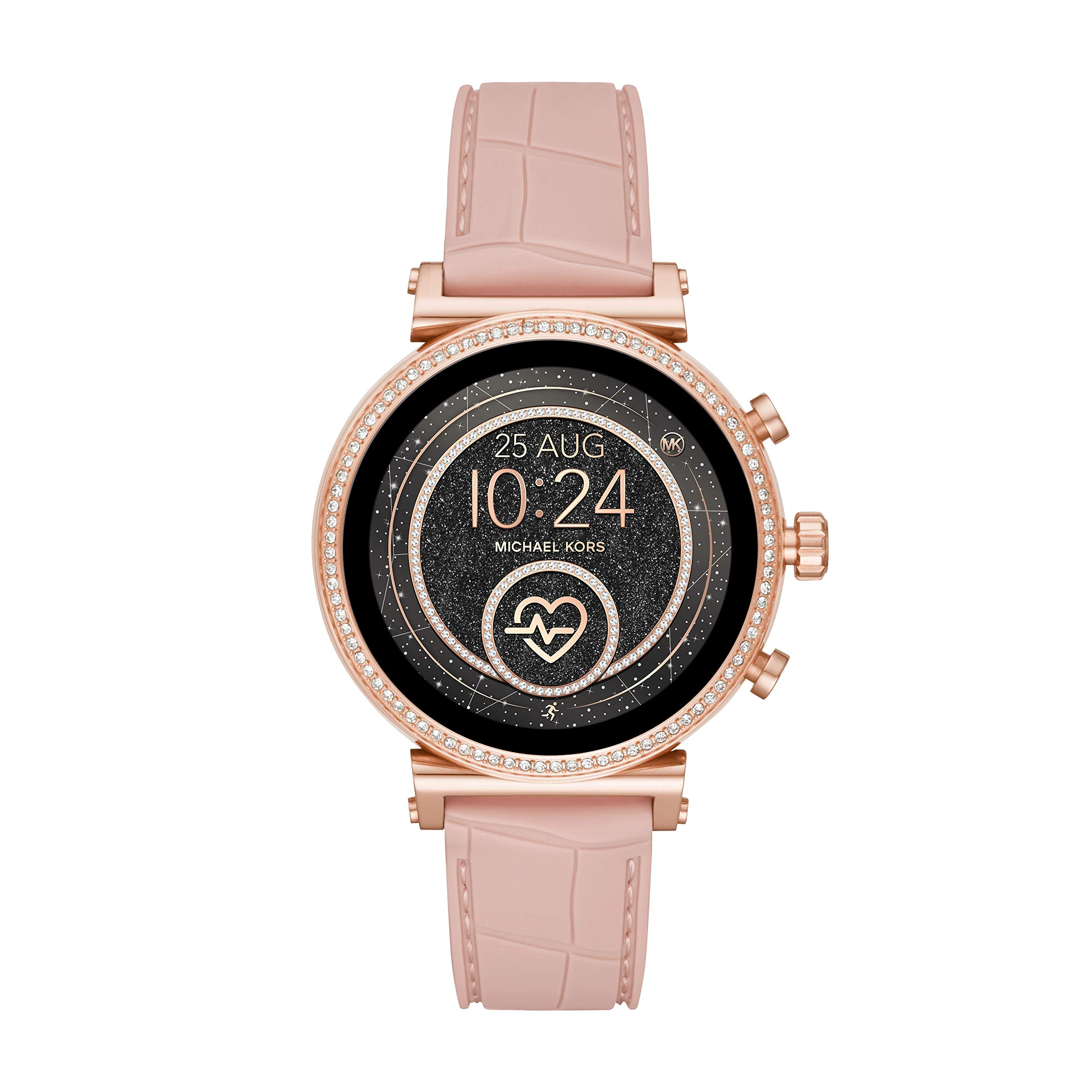 Michael Kors Access Women's Sofie Heart Rate' Stainless Steel Touch-Screen Smartwatch with Silicone Strap, Pink, 18 (Model: MKT5068) by Michael Kors