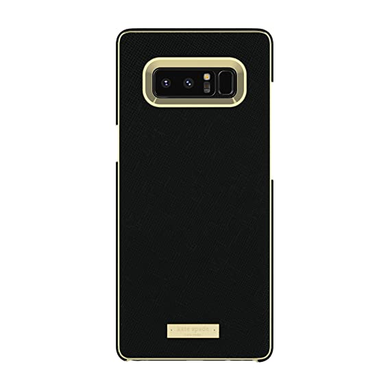on sale 5ff5c 93ce9 kate spade new york Wrap Case for Samsung Galaxy Note 8 - Saffiano  Black/Gold Logo Plate