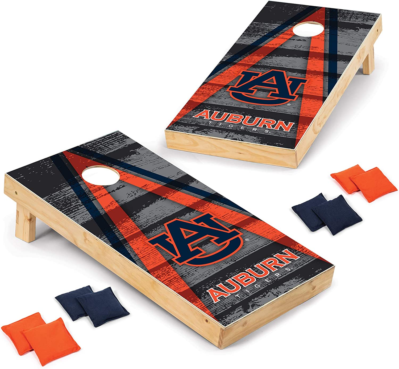 Wild Sports NCAA Auburn Tigers 2' x 4' Direct Print Vintage Triangle Wood Tournament Cornhole Set, Team Color : Sports & Outdoors