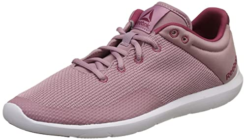Reebok Women s Studio Basics Infused Lilac Berry White Running Shoes-3 UK  99634df30