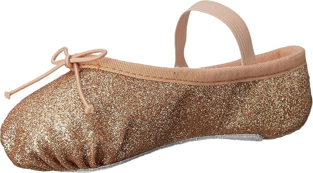 d3dc3703c Bloch Kids Girl's Glitter Dust Ballet Slipper (Toddler/Little Kid) Gold Flat  1