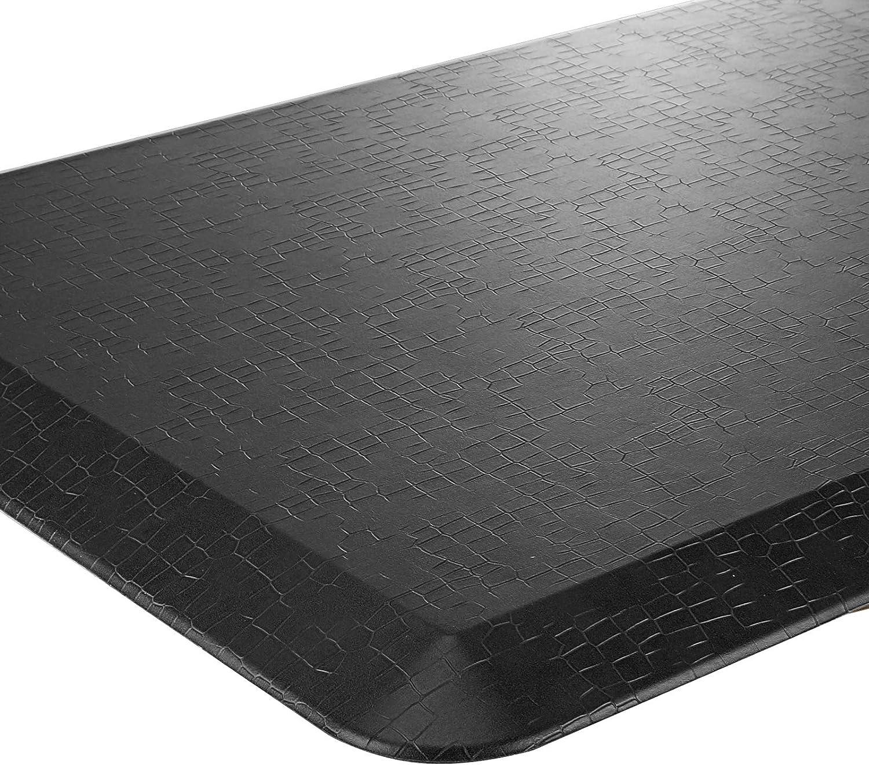 """Vanstarry Comfort Anti Fatigue Floor Mat, Standing Mat Kitchen Rug – 3/4 Inch Standing Desk Mat, Home, Office, Garage (Grain Black, 20""""x32"""")"""