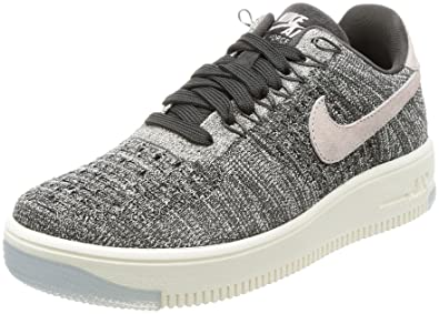 57ed858b3b9 Nike Air Force 1 Flyknit Low Noir Blanc - Baskets - Noir