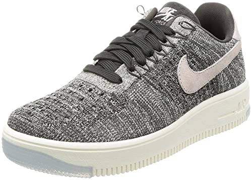 Nike Air Force 1 Flyknit Low Gris/Rosa: Amazon.es: Zapatos y complementos