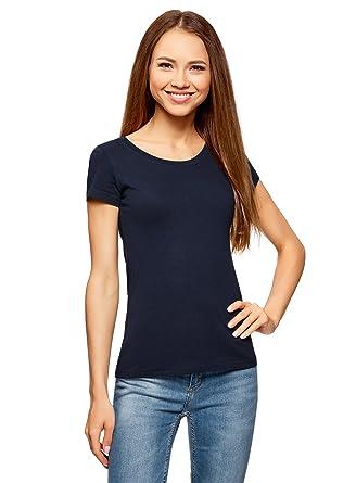 c7ab87f7e2f24 oodji Ultra Femme T-Shirt Basique en Coton (Lot de 2)