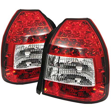 Spyder Honda Civic 96 00 3dr Led Tail Lights Red Clear