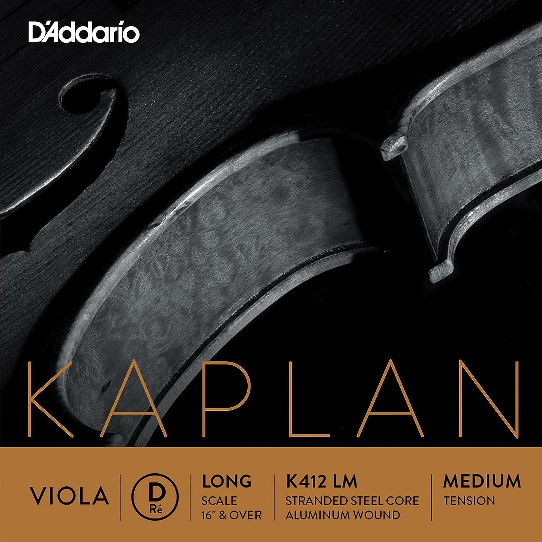 DAddario K412LH Kaplan Corde seule R/é pour Alto/Echelle longue Tension Lourd Rouge