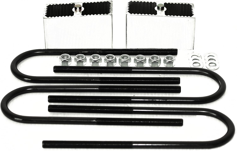 Lowering Blocks w// U-Bolts 2 Degree Taper 2 Aluminum Leaf Spring Lift