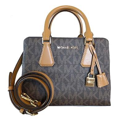9021369910c4 Amazon.com: Michael Kors Camille SM Satchel Leather BRN/ACORN (35S8GCAS1L):  Shoes