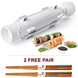 Sushezi High-End Sushi Maker Kit- Premium Sushi Bazooka + Authentic Reusable Chinese Chopsticks Set- Best Sushi Roller Machine For Easy Homemade Sushi- Top Sushi Rolling Kit, Excellent For Beginners