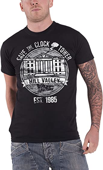 Back to The Future Save The Clock Tower Mens T-Shirt
