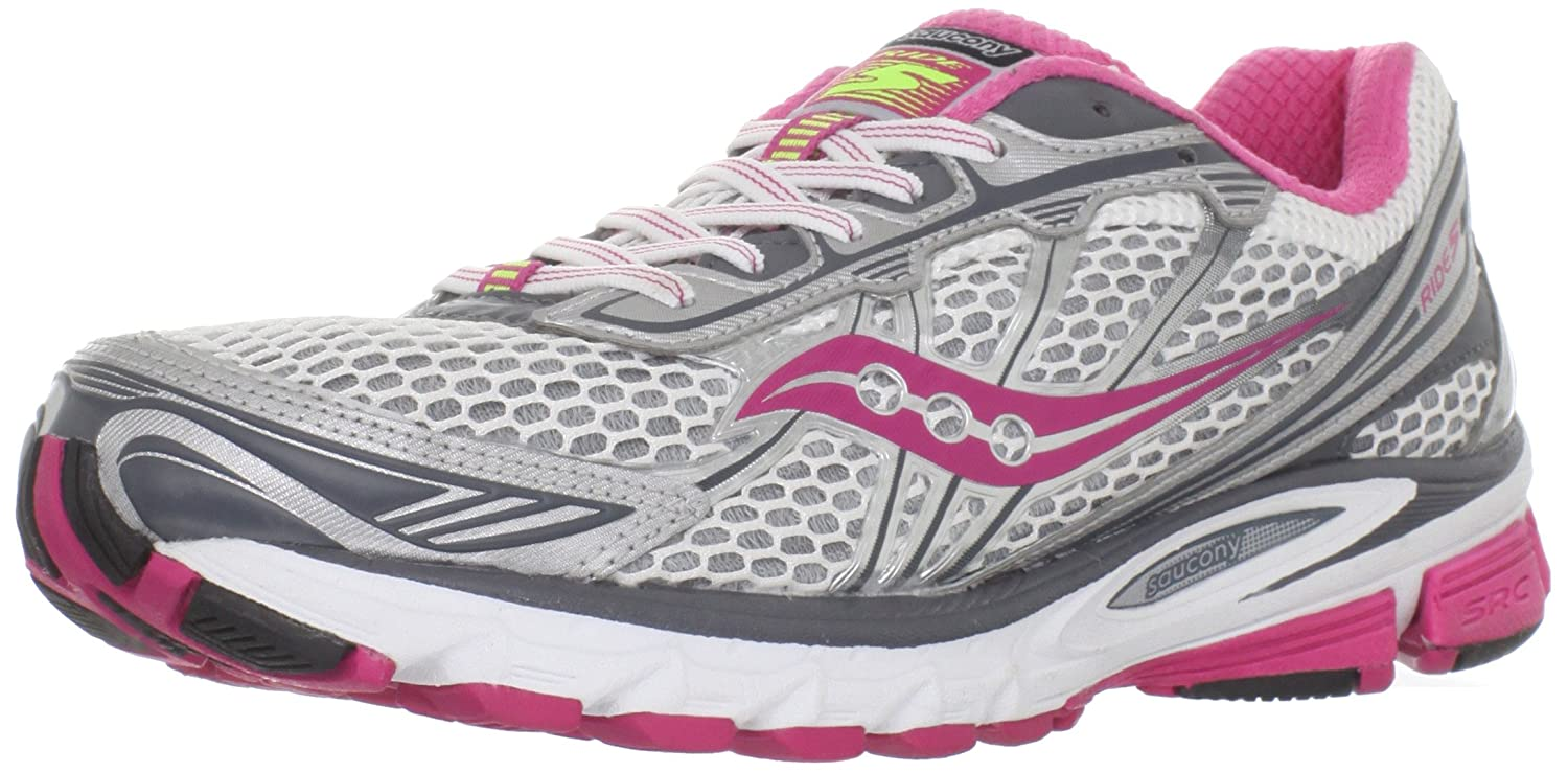 b99169a00ad1 Saucony Women s Progrid Ride 5 Running Shoe White Red Grey 12 B(M) US   Amazon.in  Shoes   Handbags
