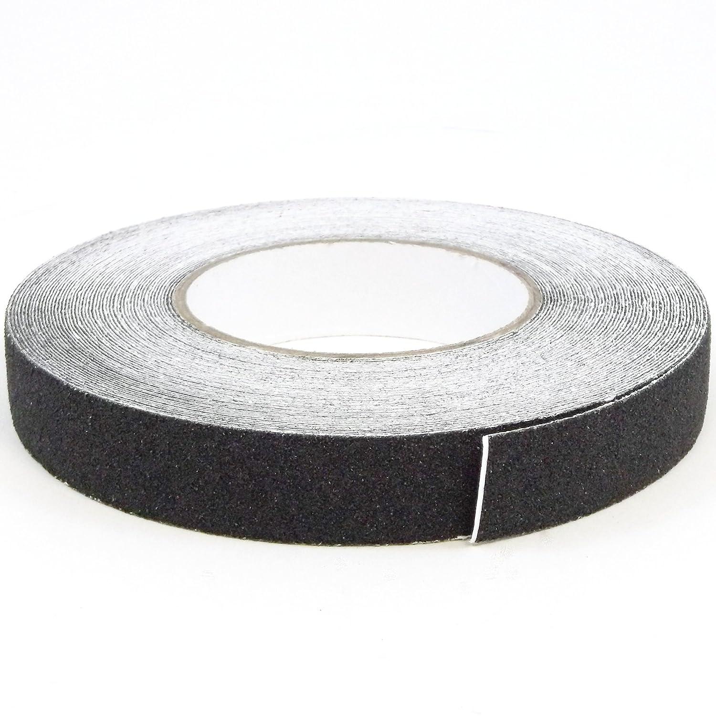 Red Hound Auto 1' x 60' Safety Non Skid Grit Grip Tape Anti Slip Roll Black Sticker Adhesive