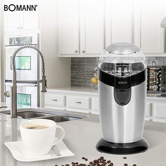Bomann KSW 445 Molinillo de café eléctrico, 120 W, 40 Grams, Acero ...