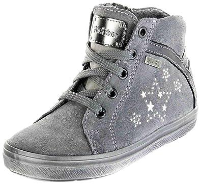 size 40 8d088 e218e Richter Kinder Halbschuhe Sneaker grau Velourleder Mädchen ...