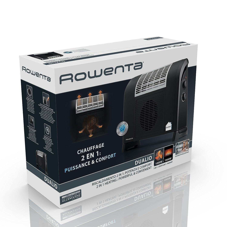 Rowenta IR5010F1  Radiateur Soufflant Radiant Dualio Noir