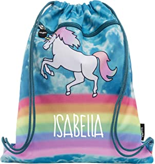 Personalised Seal Gym Bag Swim Nursery Drawstring School PE Kit Sports Kids