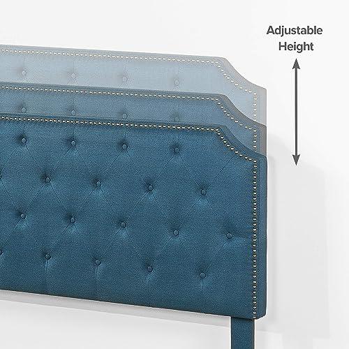 ZINUS Andover Upholstered Bed Frame / Tufted Bed Frame