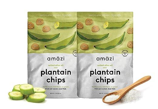 Amazi Chips de plátano tostado en seco, comercio justo, sin ...