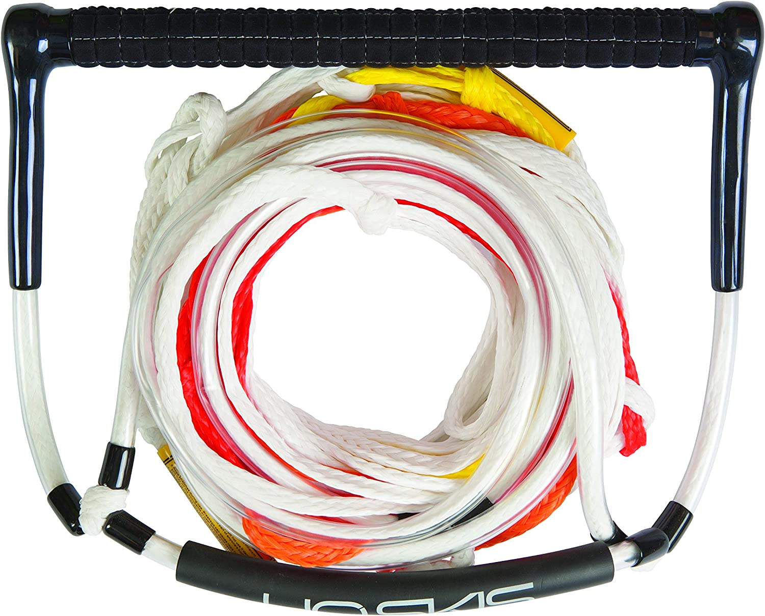 Amazon Com Ho Sports 67127090 Universal Deep V 1 Piece 75 Foot 1 Section Slalom Water Ski Mainline Tow Line Rope 12 Inch Handle With Tacky Grip Waterskiing Ropes And Handles Sports Outdoors