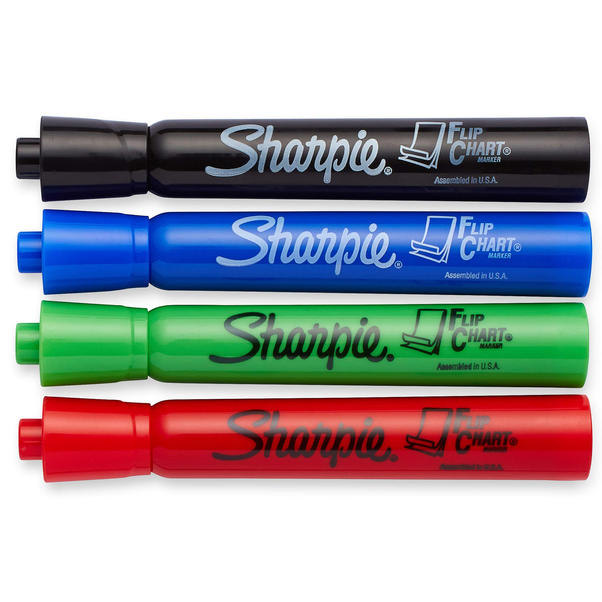 Sharpie SAN22474BN Flip Chart Markers, 4 Per Pack, 6 Packs, Black/Blue/Green/Red