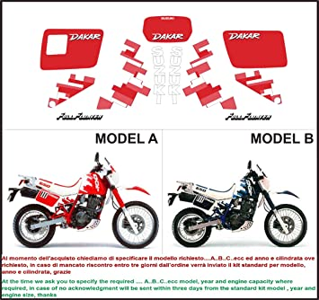 Emanuel Co Kit Adesivi Decal Stikers Suzuki Dr 650 R Dakar