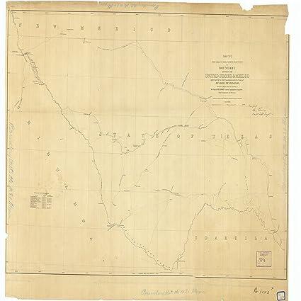 Rio Bravo Mexico Map.Amazon Com 18 X 24 Canvas 1853 Texas Old Nautical Map Drawing Chart