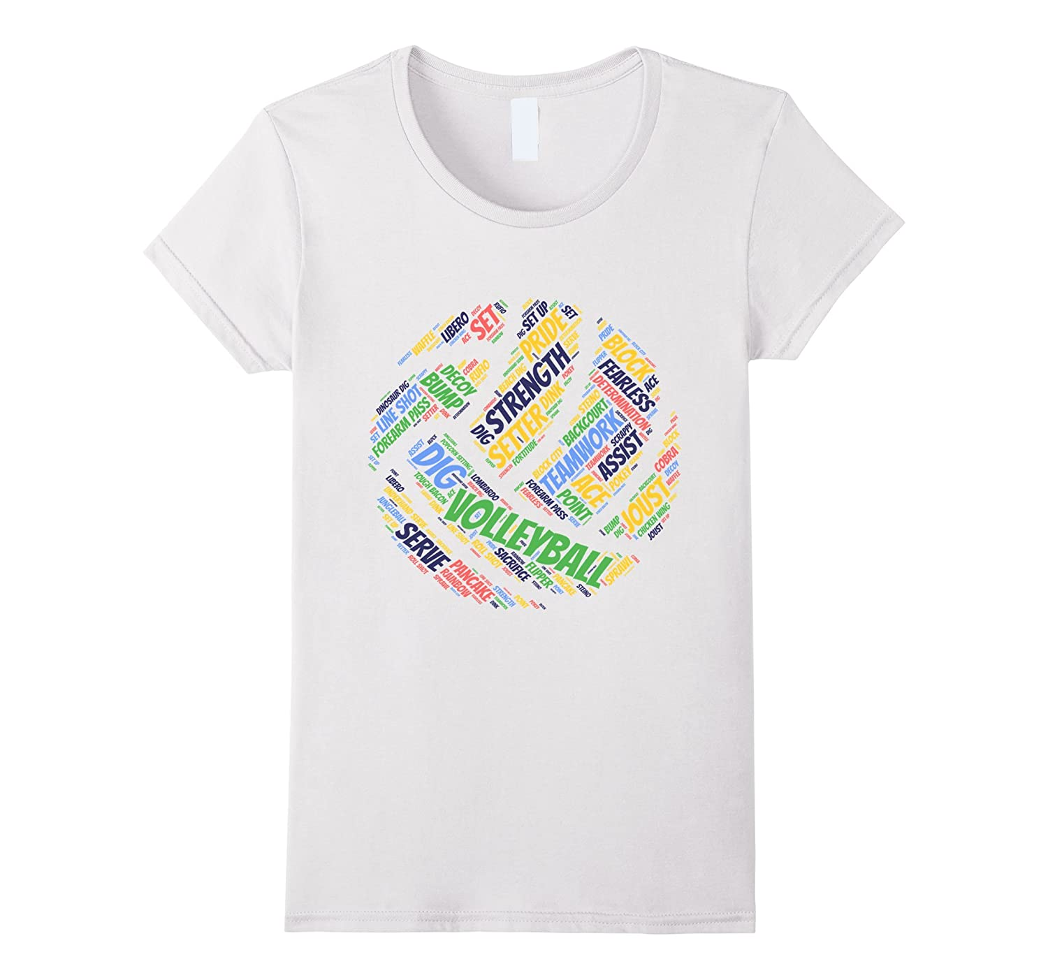 0d88d7e04a76 Happy colors Volleyball sayings shirt for teen girls & women-RT ...