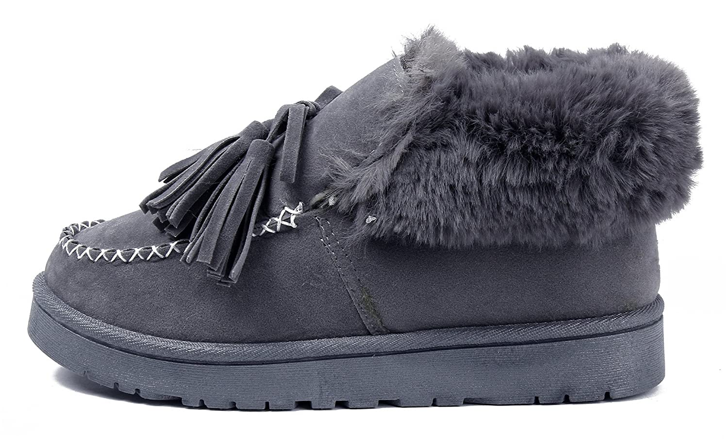AgeeMi Shoes Mocasines Mujeres Invierno Nieve Botas Impermeable Plano Bota: Amazon.es: Zapatos y complementos