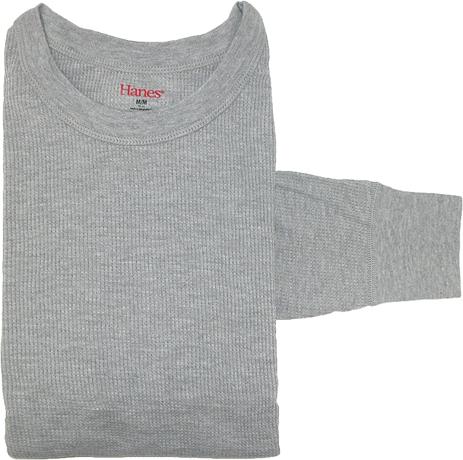 Hanes Mens Sueded Waffle Knit Top