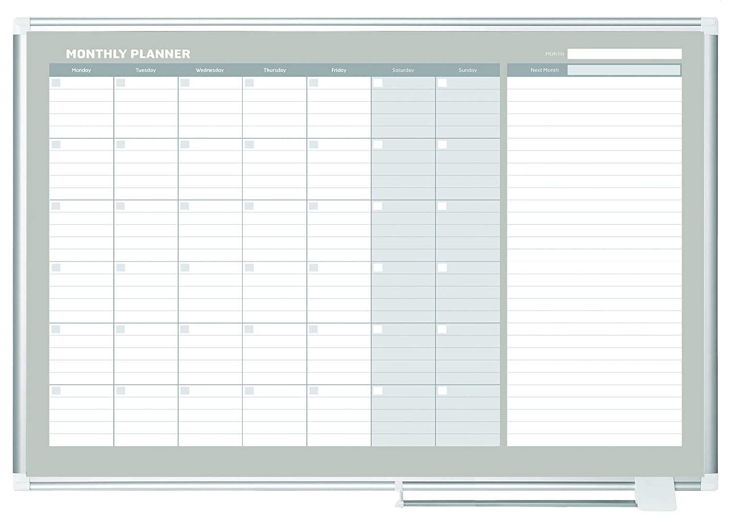 Amazoncom Mastervision Planning Board Magnetic Dry Erase Monthly