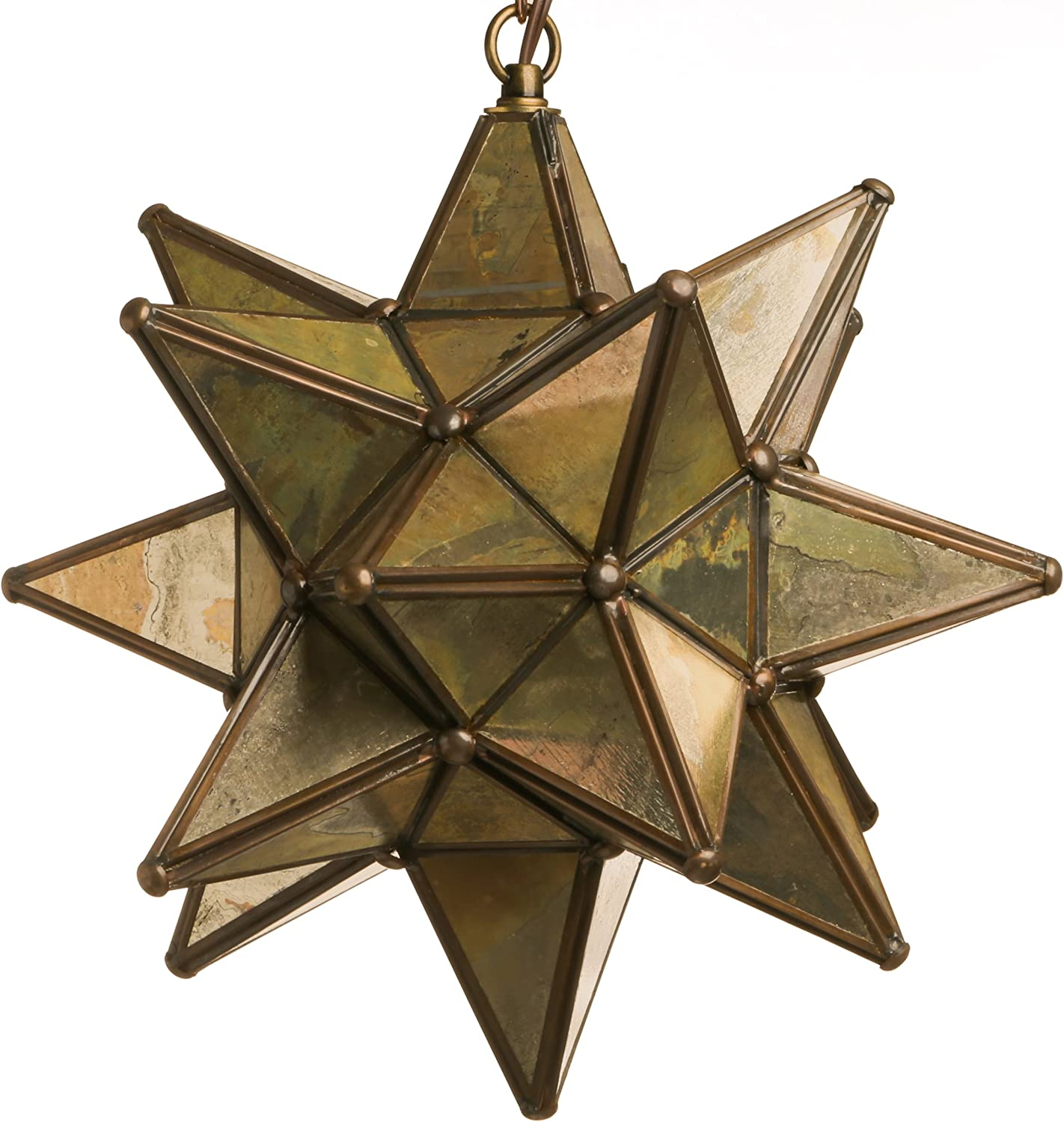 Glass Star Pendant Lights 15 Inch, Mirror