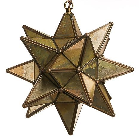15 inch hanging antique mirror glass star pendant lamp string 15 inch hanging antique mirror glass star pendant lamp aloadofball Choice Image